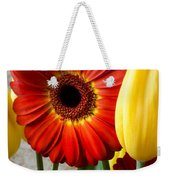 Orange Daisy With Tulips Weekender Tote Bag