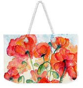 Orange Field Of Poppies Watercolor Weekender Tote Bag