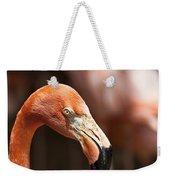 Orange Flamingo Weekender Tote Bag