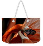 Orange Flamingos Conflict Resolution Weekender Tote Bag