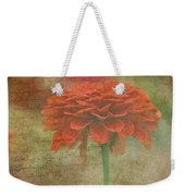 Orange Floral Fantasy Weekender Tote Bag