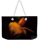 Orange Floral In Abstract Weekender Tote Bag