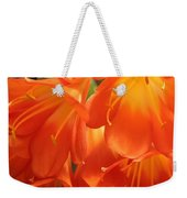 Orange Flower Petals Weekender Tote Bag