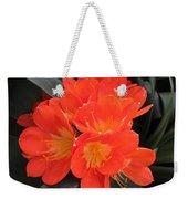 Bright Orange Flowers Weekender Tote Bag