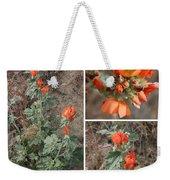 Orange Globe Mallow Collage Weekender Tote Bag