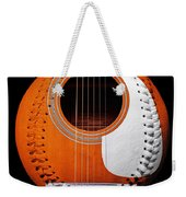 Orange Guitar Baseball White Laces Square Weekender Tote Bag