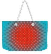 Optical Illusion - Orange On Aqua Weekender Tote Bag