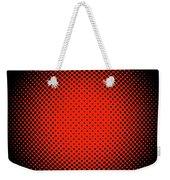 Optical Illusion - Orange On Black Weekender Tote Bag