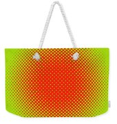Optical Illusion - Orange On Lime Weekender Tote Bag