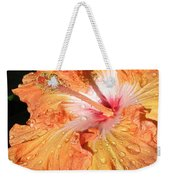Orange Hibiscus After The Rain Weekender Tote Bag