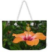 Orange Hibiscus Blossom Weekender Tote Bag