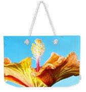 Orange Hibiscus Texture I Weekender Tote Bag