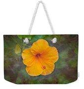 Orange Hibiscus Textured Weekender Tote Bag