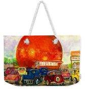 Orange Julep With Antique Cars Weekender Tote Bag by Carole Spandau