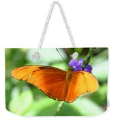 Orange Julia Butterfly Weekender Tote Bag