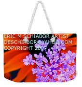 Orange Lavender Flower Weekender Tote Bag