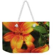 Orange Lillies Weekender Tote Bag