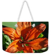 Orange Lilly Weekender Tote Bag
