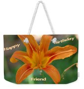 Orange Lily Birthday Weekender Tote Bag