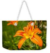 Orange Lily Weekender Tote Bag