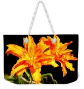 Orange Lily Twins Weekender Tote Bag