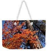 Orange Maple Weekender Tote Bag