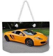 Orange Mclaren Mp4-12c Weekender Tote Bag