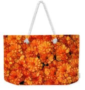 Orange Mums Weekender Tote Bag