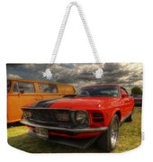 Orange Mustang Weekender Tote Bag