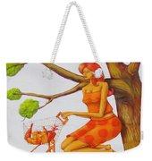 Orange Olga Weekender Tote Bag