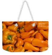 Orange Peppers Weekender Tote Bag
