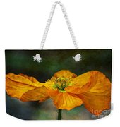 Orange Poppy Weekender Tote Bag