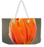 Orange Red Tulip Square Weekender Tote Bag