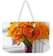 Orange Rose Wedding Bouquet Weekender Tote Bag