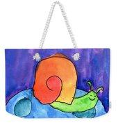 Orange Snail Weekender Tote Bag