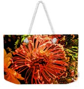 Orange Spice Floral  Weekender Tote Bag