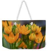 Orange Stars - Floral - Ornithogalum Dubium - Sun Stars Weekender Tote Bag