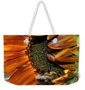 Orange Sunflower And Bee Weekender Tote Bag