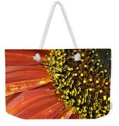 Orange Sunflower Close Up Weekender Tote Bag