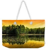 Orange Sunrise Reflection Landscape Weekender Tote Bag