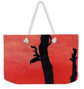 Orange Sunset Silhouette Tree Weekender Tote Bag