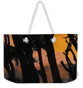 Orange Sunset Forest Weekender Tote Bag