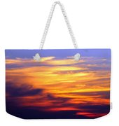 Orange Sunset Sky Weekender Tote Bag