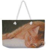 Orange Tabby Cat Weekender Tote Bag