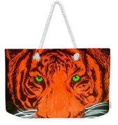 Orange Tiger Weekender Tote Bag