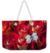 Orange Tip Butterfly Weekender Tote Bag