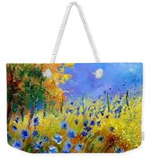 Orange Tree And Blue Cornflowers Weekender Tote Bag