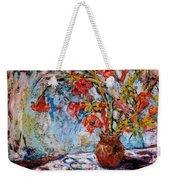 Orange Trumpet Flowers Weekender Tote Bag