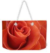 Orange Twist Rose 3 Weekender Tote Bag