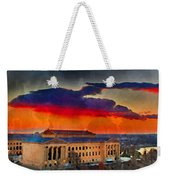 Orange Upon The Art Museum Weekender Tote Bag